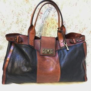 FOSSIL Large Vintage ReIssue Leather Weekender Bag